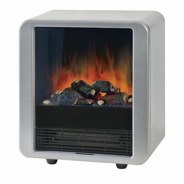 Ewt mini cube 1500w argent achat vente radiateur panneau mini cube silv - Cheminee electrique consommation ...