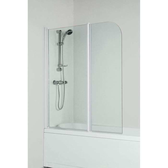pare baignoire wapiti 2 volets gauche achat vente porte de baignoire pare bain pare. Black Bedroom Furniture Sets. Home Design Ideas