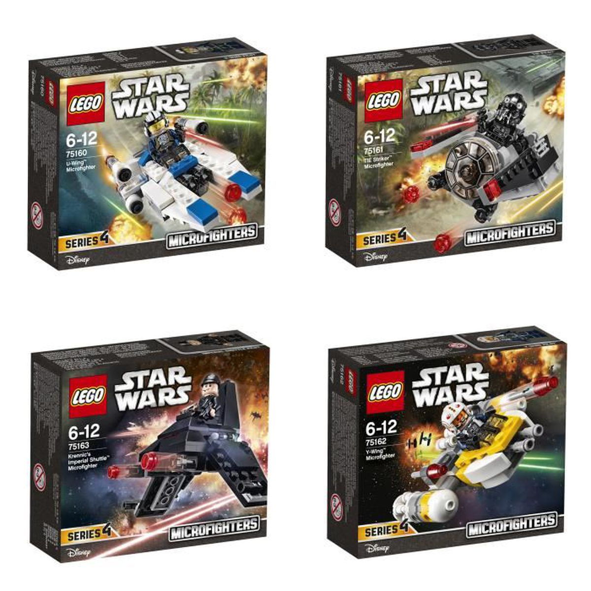 assemblage construction lego star wars bundle microfighters srie 4