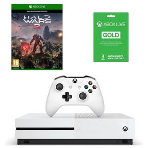 CONSOLE XBOX ONE NOUV. Xbox One S 500 Go + Halo Wars 2 + abo Live 3 mois