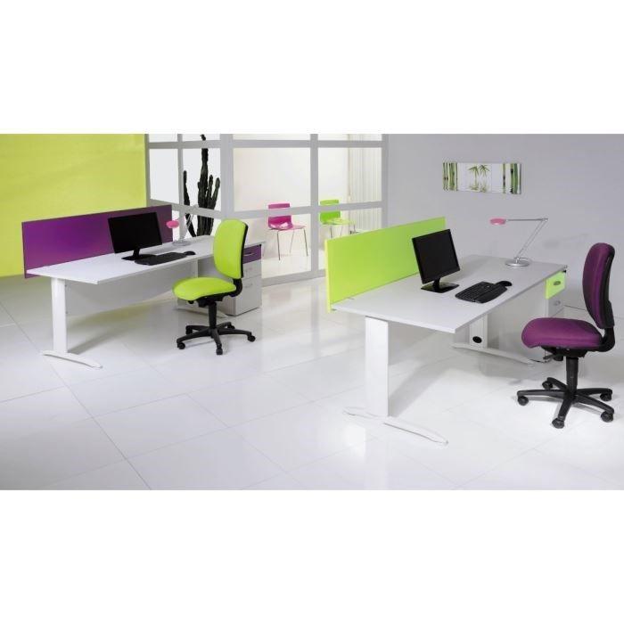Bureau idra rectangulaire l 140cm weng blanc achat for Bureau wenge