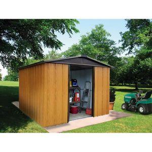 Abri de jardin metal galvanise achat vente abri de for Abri jardin yardmaster