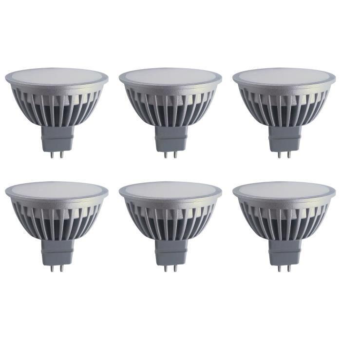polaroid lot de 6 ampoules spot led gu5 3 5w achat vente ampoule led cdiscount. Black Bedroom Furniture Sets. Home Design Ideas