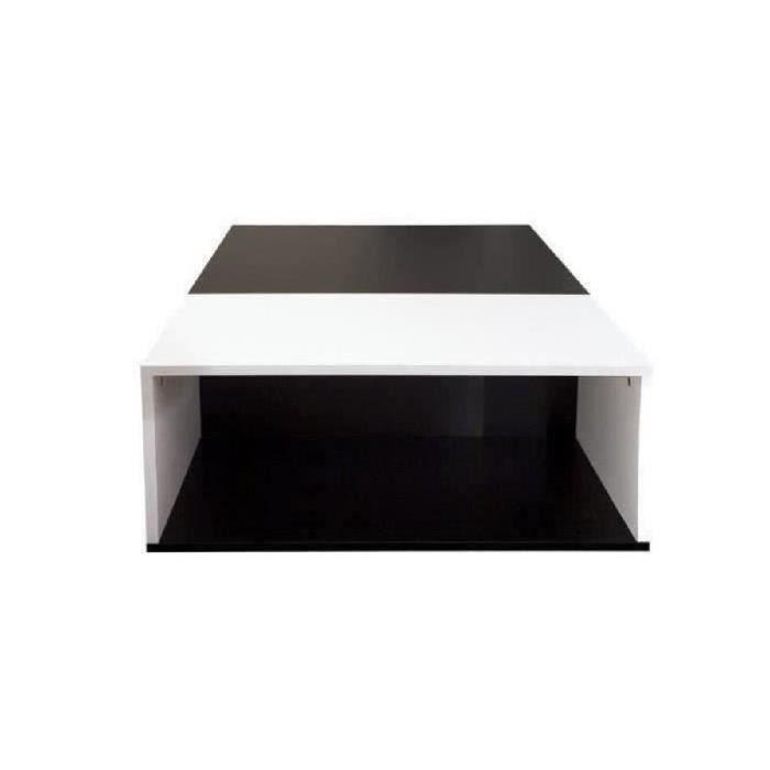Mega table basse 89x67 cm noir et blanc achat vente Table basse noire et blanc