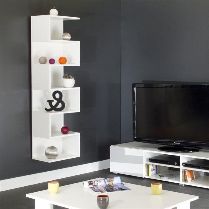 cherry etag re style contemporain blanc l 39 cm achat. Black Bedroom Furniture Sets. Home Design Ideas