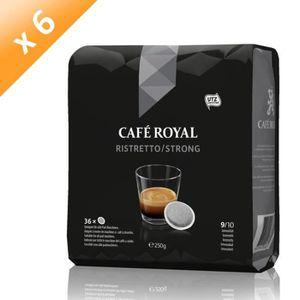 CAFÉ - CHICORÉE Lot de 6 Café Royal Ristretto  x36 Dosettes Souple
