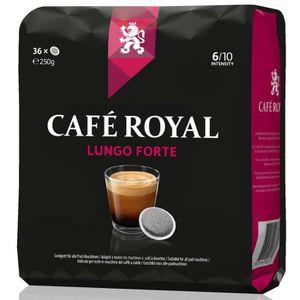 CAFÉ - CHICORÉE Café Royal  Lungo Forte x 36  Dosettes Souples com