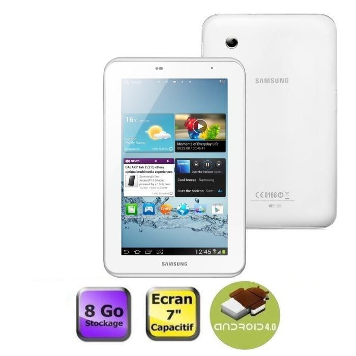 """TABLETTE TACTILE Samsung Galaxy Tab 2 7"""" Wifi 8 Go Blanc"""