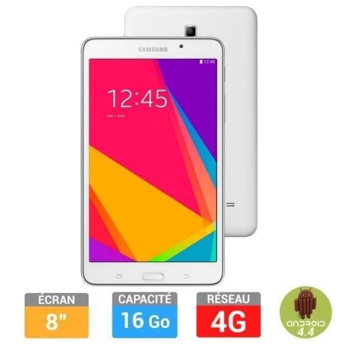 Samsung galaxy tab 4 7 8go blanche 4g achat vente - Prix tablette samsung tab 4 ...