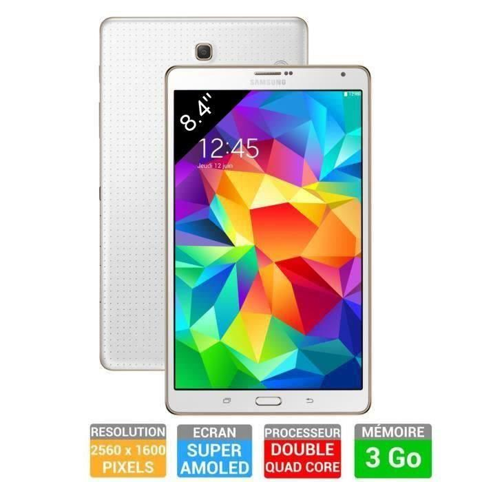 Samsung galaxy tab s 8 4 wifi 16go blanche prix pas for Sm t580nzkaxef