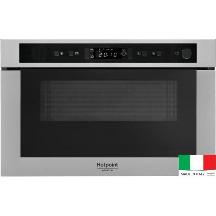 hotpoint mh 400 ix micro ondes combin encastrable inox. Black Bedroom Furniture Sets. Home Design Ideas