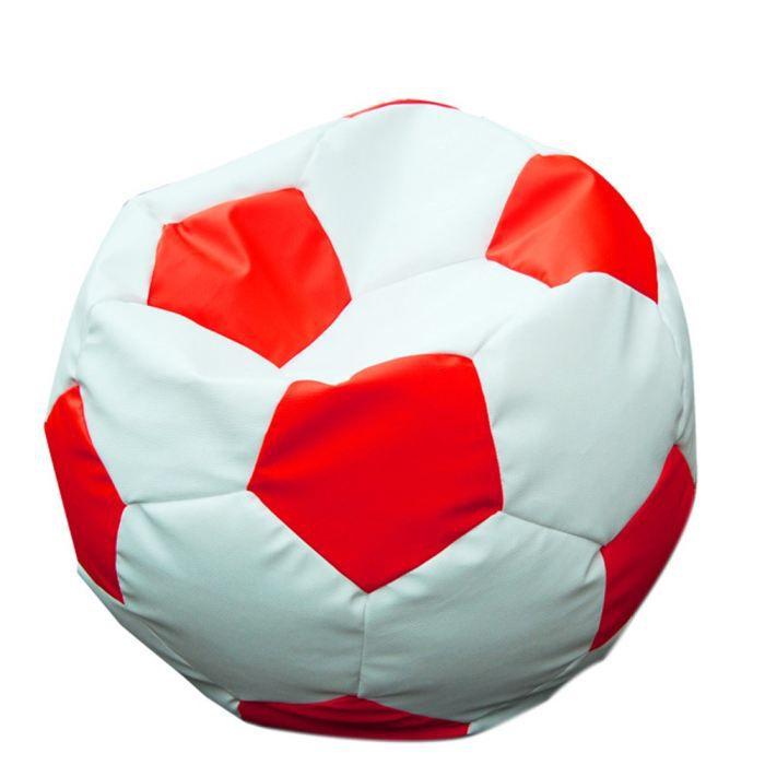 pouf ballon rouge blanc simili cuir achat vente pouf. Black Bedroom Furniture Sets. Home Design Ideas