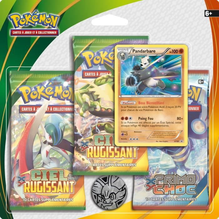 3 boosters xy6 pokemon de asmodee. Black Bedroom Furniture Sets. Home Design Ideas