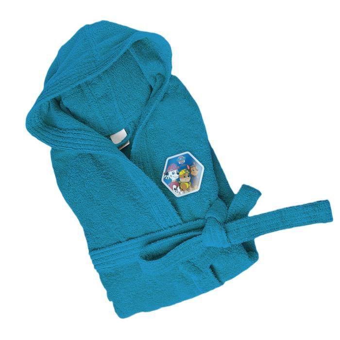 Paw patrol peignoir gar on 100 coton 4 6 ans bleu achat for Peignoir eponge garcon