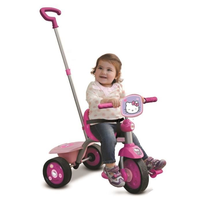 tricycle hello kitty avec canne de direction r gla achat vente tricycle cdiscount. Black Bedroom Furniture Sets. Home Design Ideas