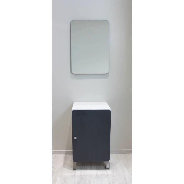iggy ensemble meuble de salle de bain 45 cm miroir gris achat vente salle de bain. Black Bedroom Furniture Sets. Home Design Ideas