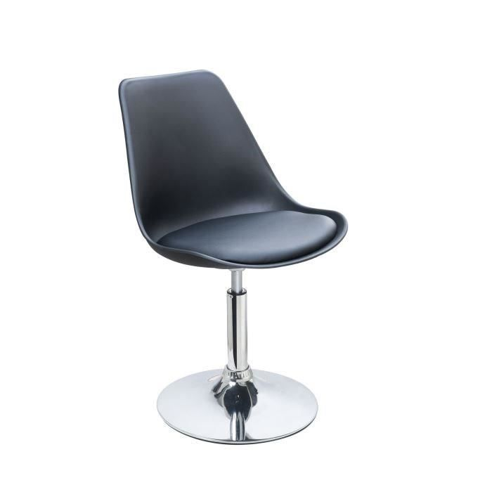 CHAISE POPPY Chaise de salle à manger pivotante en sim...
