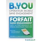 CARTE SIM Kit SIM pour forfaits B&YOU SANS ENGAGEMENT