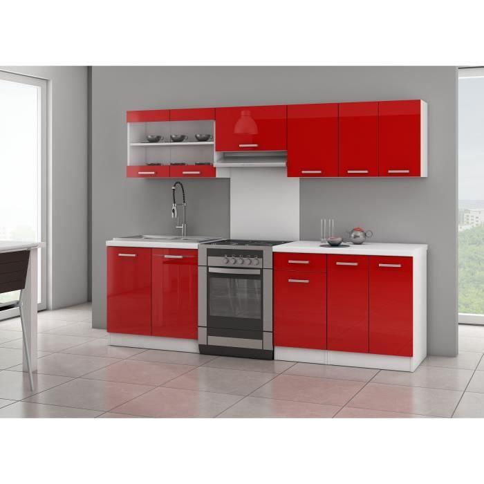 ultra cuisine compl te l 2m40 rouge brillant achat