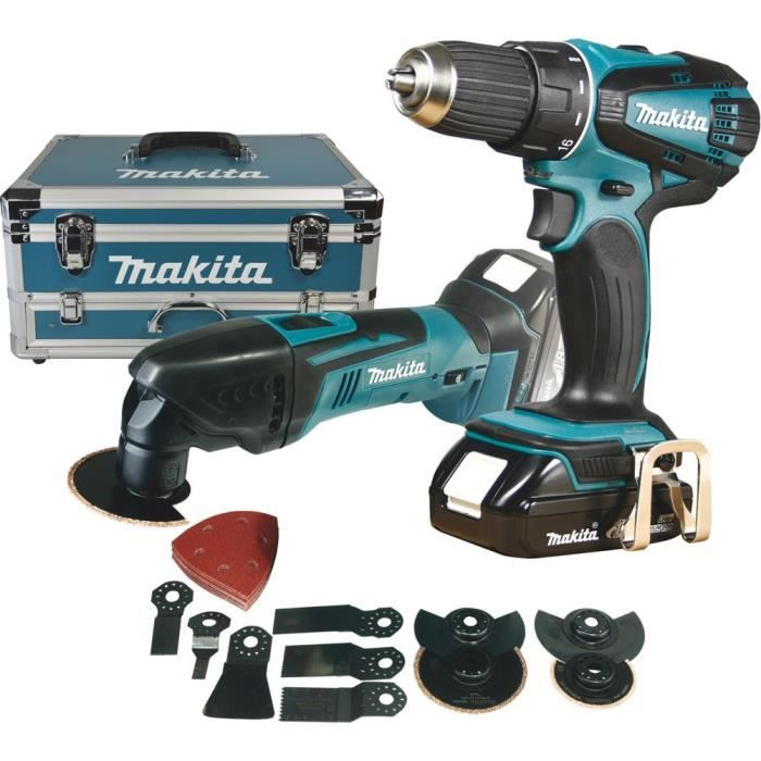 makita perceuse outil multifonctions 18v li achat vente pack de machines outil cdiscount. Black Bedroom Furniture Sets. Home Design Ideas