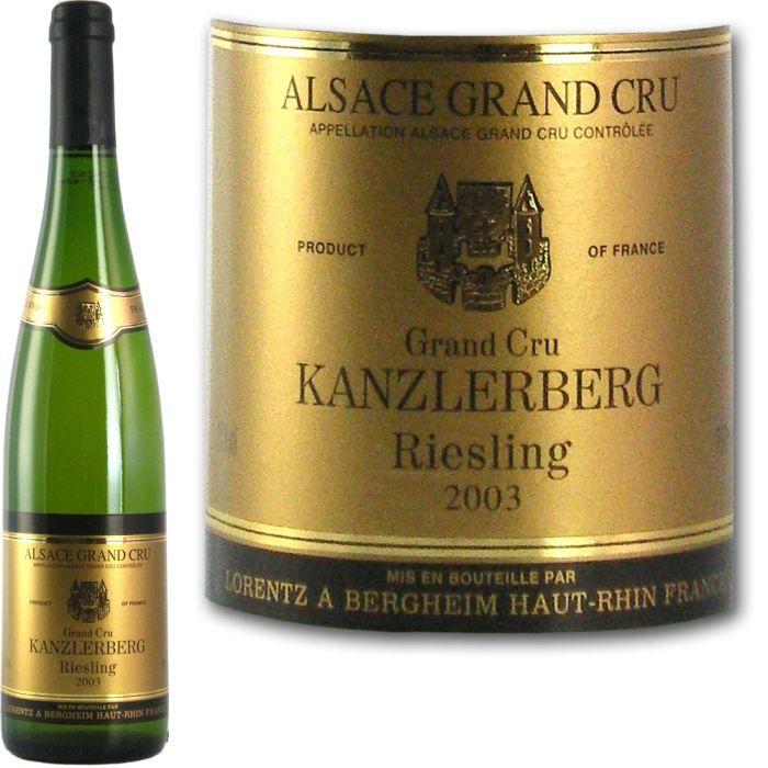 VIN BLANC Riesling Grand Cru Kanzlerberg 2003 Lorentz