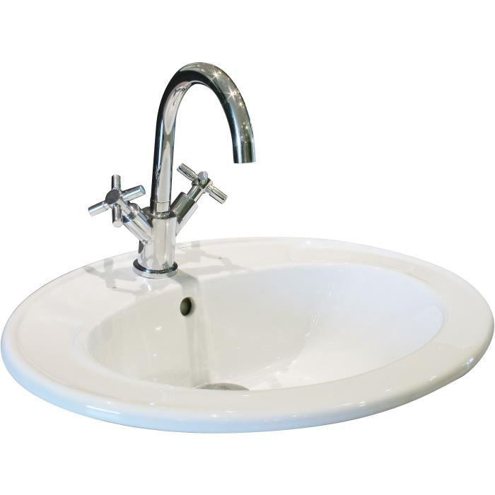 vasque a encastrer achat vente vasque a encastrer pas cher les soldes sur cdiscount. Black Bedroom Furniture Sets. Home Design Ideas