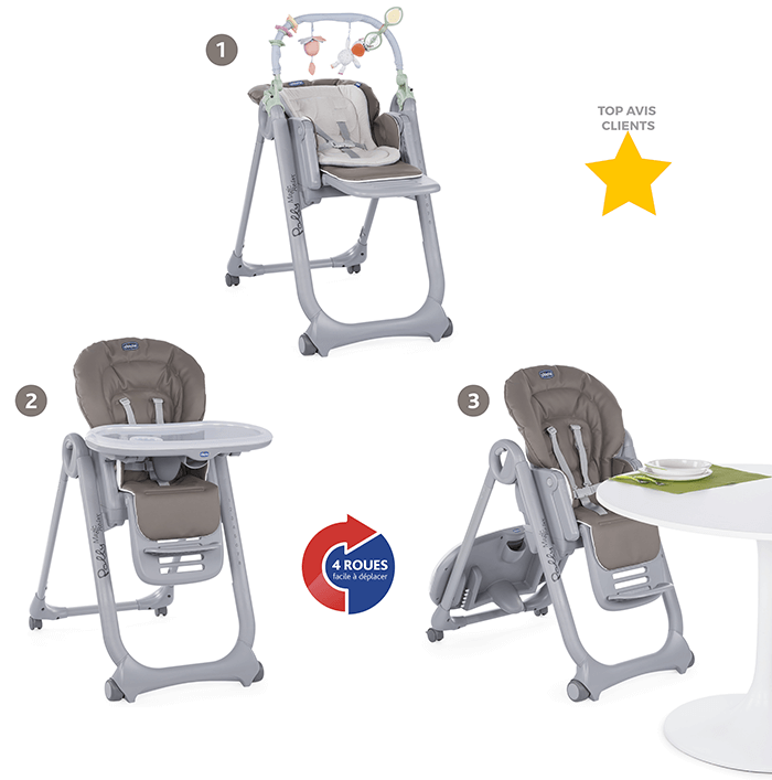 alimentation bebe chaise haute chicco polly