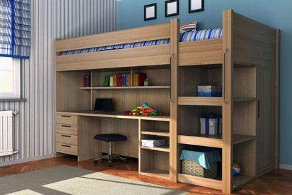 Ado : comment aménager l\'espace sous un lit mezzanine ...