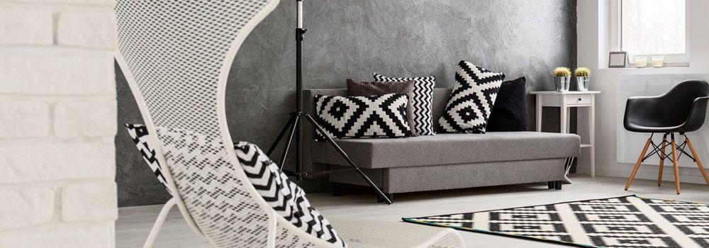 comment d corer votre salon en noir et blanc cdiscount. Black Bedroom Furniture Sets. Home Design Ideas
