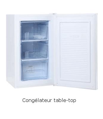 Le congélateur table-top