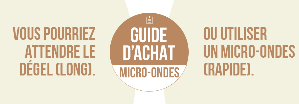 Comment choisir son micro-ondes