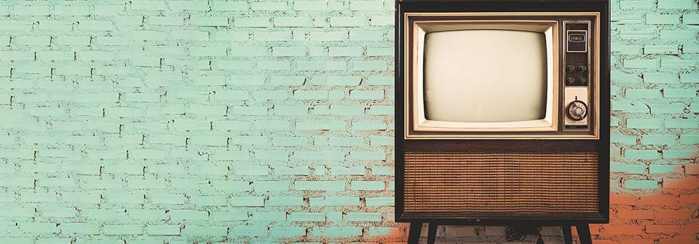 Un vieux téléviseur vintage