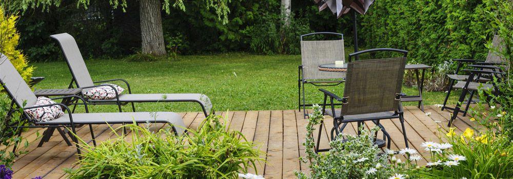 mobilier de jardin 2 chaises longues - Jardin Mobilier