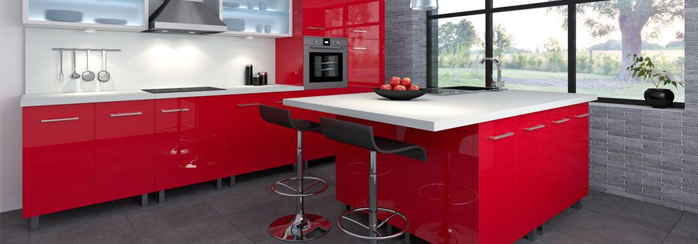quels meubles pour une cuisine rouge et blanche cdiscount. Black Bedroom Furniture Sets. Home Design Ideas