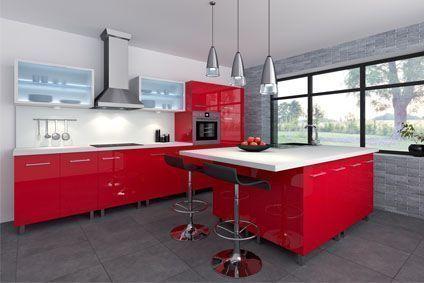 Quels meubles pour une cuisine rouge et blanche ? - Cdiscount