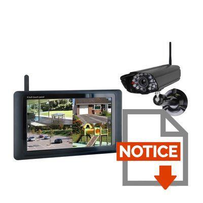 smartwares kit de surveillance sans fil avec cran. Black Bedroom Furniture Sets. Home Design Ideas