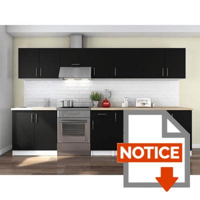 Notice OBI Cuisine complète L 320 cm - Noir mat
