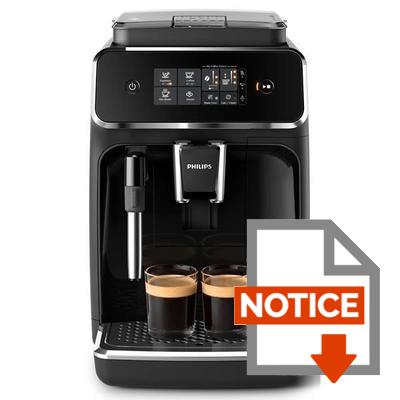 Notice PHILIPS EP2221/40 Machine Espresso Automatique Ser