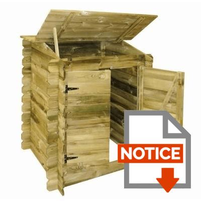 Notice UBBINK Coffre de filtration en bois pour piscine