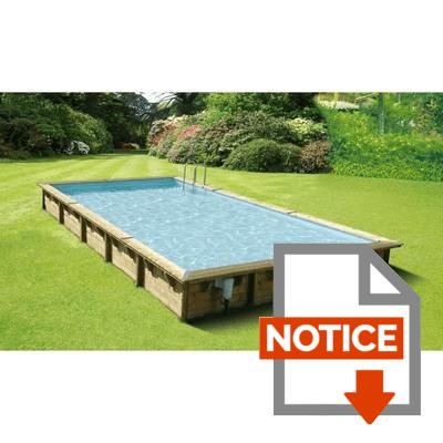 Notice UBBINK Piscine rectangulaire en bois Linéa 500x800