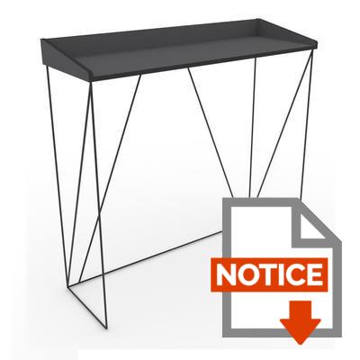 Notice WALTER Console - Contemporain - Métal - Laqué noir