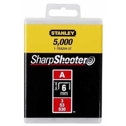 STANLEY Graffe 6mm tipo A 1000 pezzi