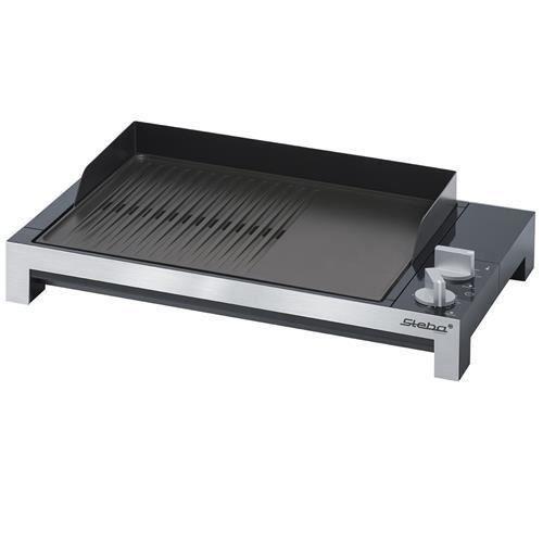 STEBA 066100 TG1 Griglia da tavolo - 2200 W - Piastra antiaderente 37 x 30 cm - Nera