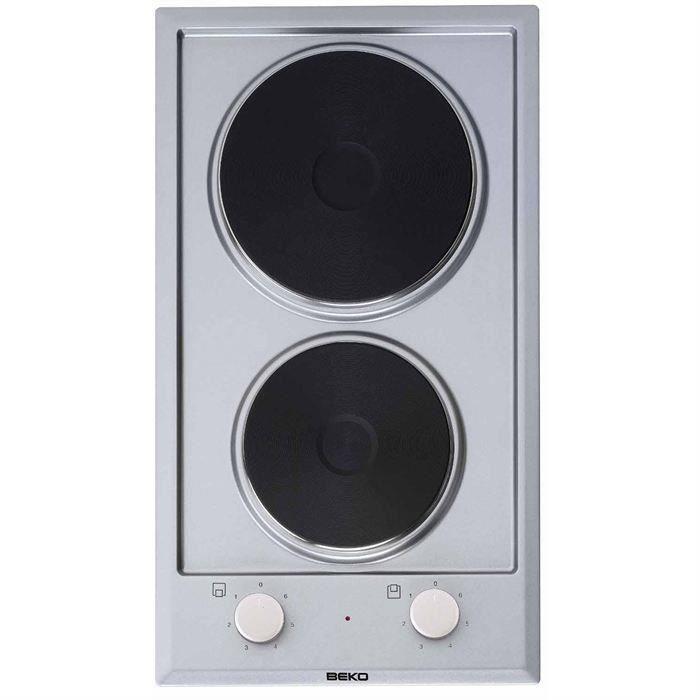 BEKO - HDCE32200X - Domino di cottura elettrico - 30 cm - 6 livelli di potenza - 2500 W - Acciaio inossidabile