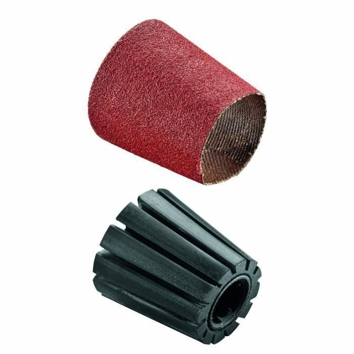 Set porte-manchon et manchon abrasif Bosch - (Accessoire pour Texoro, Grain 80, Largeur 30mm, Conique)
