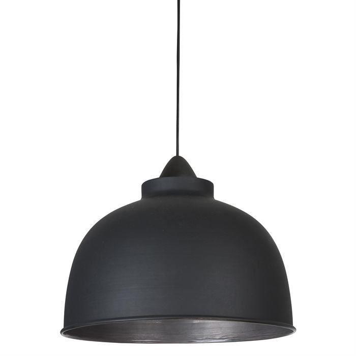 COREP Lampada a sospensione in metallo Little Dock - Ø 31 cm - H 21,50 cm - E27 - 60 W - Nero opaco