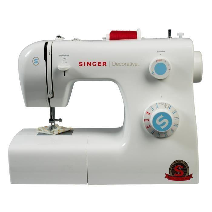 Macchina da cucire decorativa Singer - Potenza: 70 W - 31 punti - 19 programmi - 6 teste di artigli di addestramento - Regolazione della lunghezza