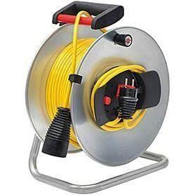 Brennenstuhl Enrouleur de câble Silver Jardi 48 -5m+1 -5m (Cablepilot) - Fabrication Française