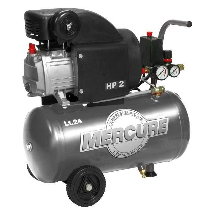 Compressore d'aria orizzontale MERCURE - 24 L - 2 HP