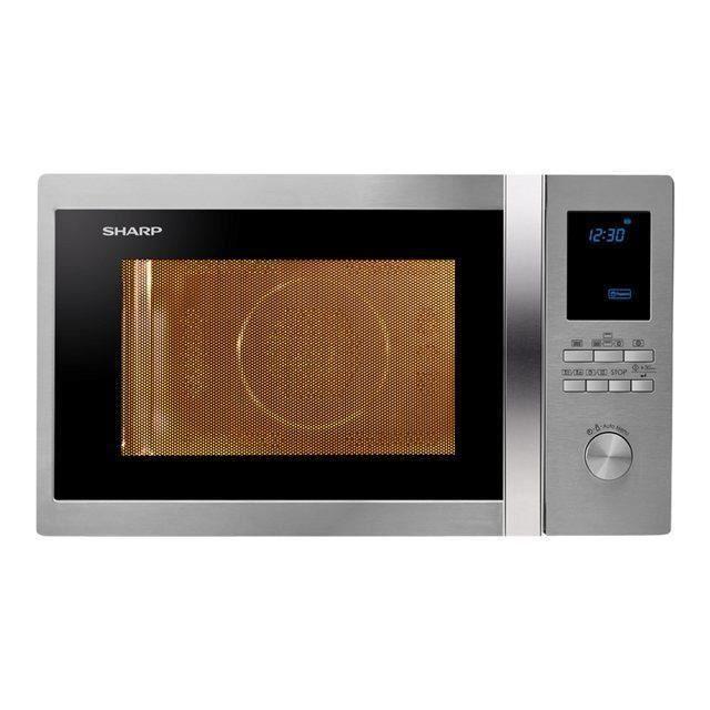 SHARP R-922STWE - Micro grill inox - 32 L - 1000 W - Grill 1100 W - Quattro 2500 W - Pose libre